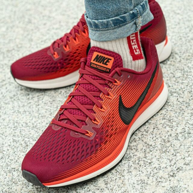 realeza Maldito experiencia  Nike Air Zoom Pegasus 34 Running Trainers Gym - UK Size 10 (eur 45) Rush  Maroon for sale online | eBay