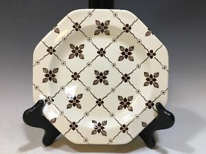Royal Staffordshire Homespun Ironstone J.&G. Meakin Octagonal Salad Plate