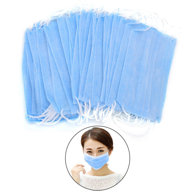 Disposable 50 Pcs Dental Medical Surgical Dust Ear Loop Face Mouth Masks Pip