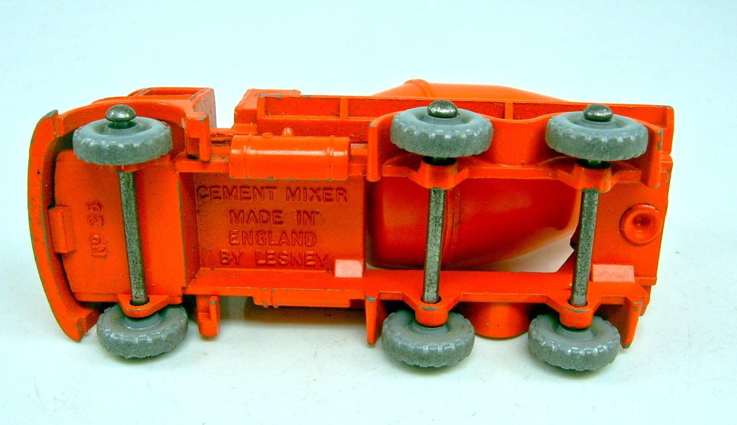 Matchbox Matchbox Matchbox RW 26B Foden Cement Mixer grobe greye Räder guter Zustand 0237d2
