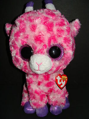 Medium 9 inch Glitter Eyes TY Beanie Boos - MWMTs TWIGS the Pink Giraffe