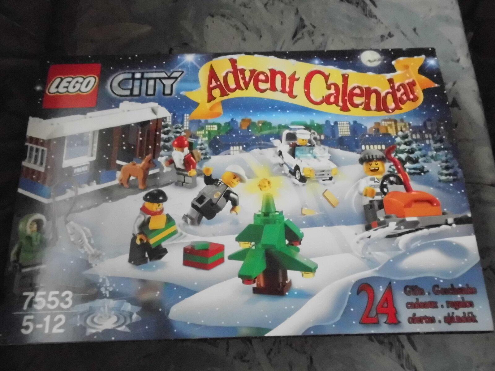 Lego 7553 City Adventskalender mit Polizeistation, aus 2011, Neu  Ungeöffnet