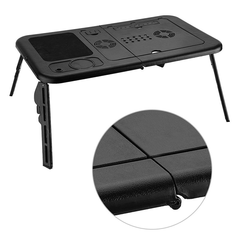 1 Of 8free Portable Foldable Laptop Desk Lap Table Bed Tray Computer Stand W Cooling Fans