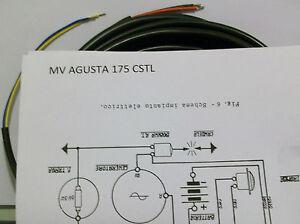 IMPIANTO-ELETTRICO-ELECTRICAL-WIRING-MOTO-MV-AGUSTA-CSTL-175-SCHEMA-ELETTRICO