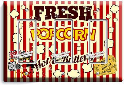Pop Corn Tv Room Home Movie Theater Cinema 3 Gang Gfci Light Switch Plates Decor Ebay