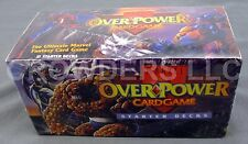 Marvel Over Power Card Game Sealed Starter Box 12 Decks Included Fleer 1995