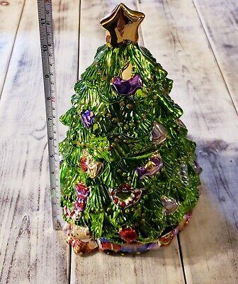 Allure Metallic Christmas Tree Cookie Jar 1998 12 inches | eBay