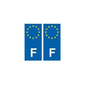100% De Qualité F Europe Autocollant Plaque Sticker France - Angles : Droits