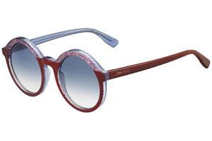 a0d5144691d New! Jimmy Choo  428 Women s Glam Purple Glitter Round Sunglasses