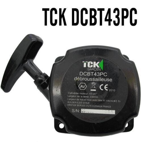 piece  LANCEUR demarreur debroussailleuse  TCK DCBT43PC  ref gr0bar/