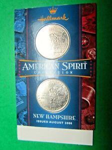 AUGUST-2000-HALLMARK-AMERICAN-SPIRIT-NEW-HAMPSHIRE-D-amp-P-QUARTER-DOLLARS-CM54