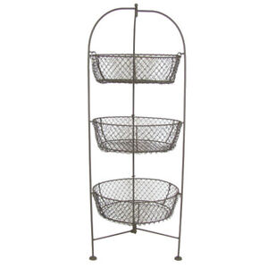 Image Is Loading Standing 3 Tier 32 034 Wire Metal Basket