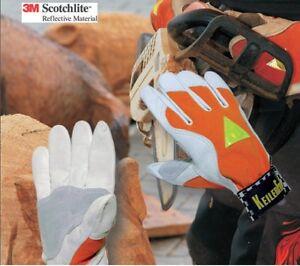 2 x   Keiler Fit Orange, leichter Sommerhandschuh für Forst, Garten, Gr.7