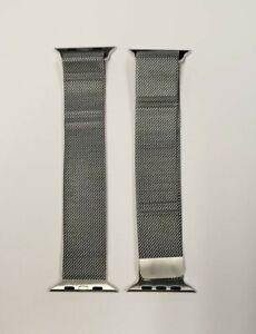 Genuine Apple Used MILANESE stainless steel LOOP BAND Silver 44mm