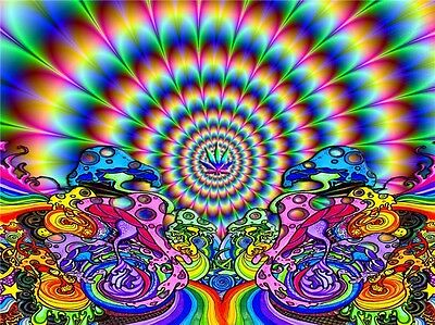 """Psychedelic Trippy Art Fabric Poster 21/"""" x 13/"""" P35"""