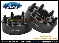 """2015-2017 Ford 6x135 MM 2"""" Thick Black Hub Centric Wheel Spacers Adapters 14x1.5"""