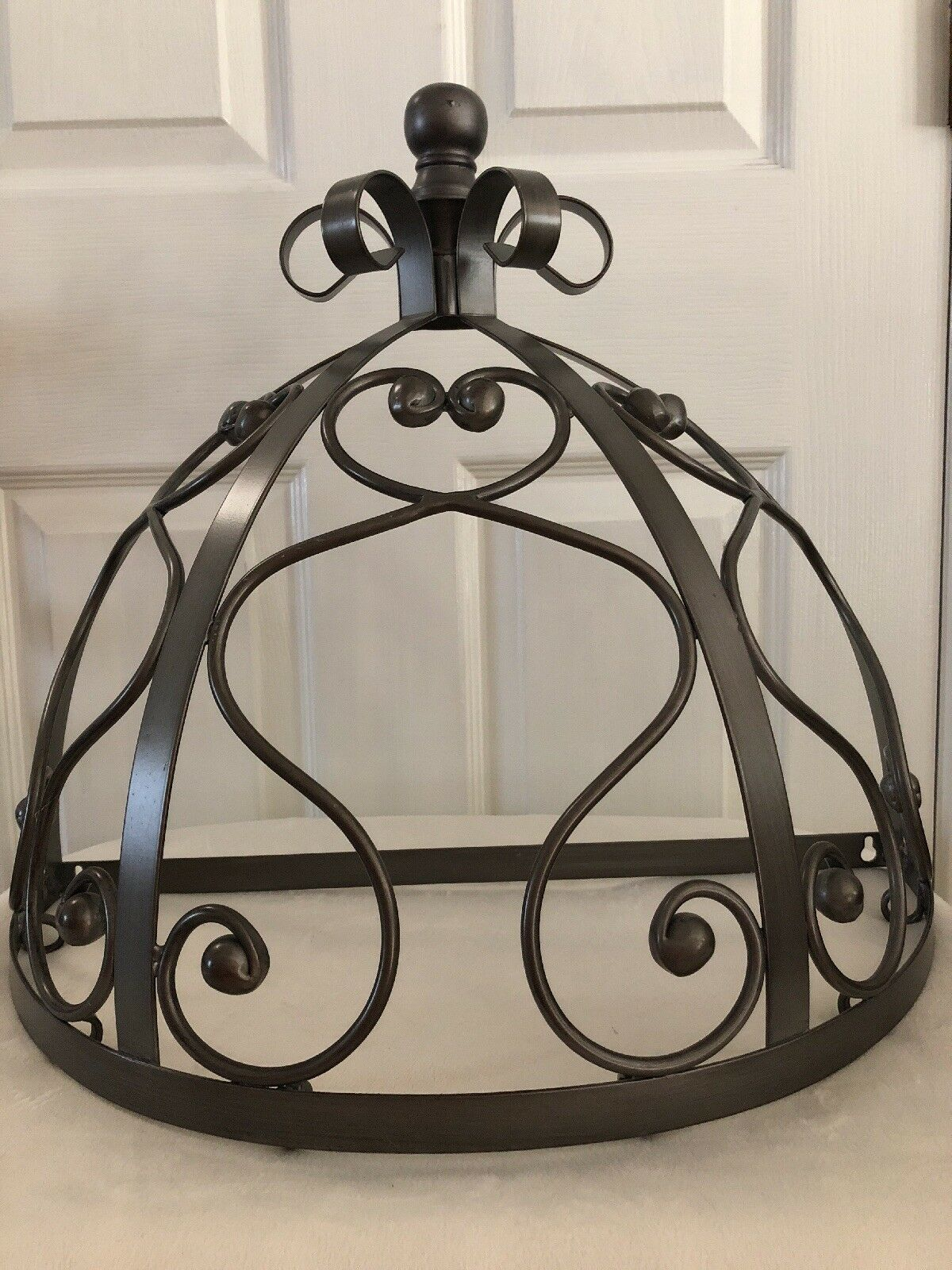 BEAUTIFUL Bombay Company Metal CANOPY Pewter Farbe Half Circle Wall Mount Crown