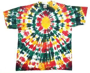 Vintage Eye Dye Tie Dye Tee Multicolored Size XL Single Stitch T-Shirt