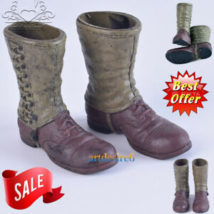 1//6 Soldier Desert Combat Boots Model Sand Shoes Lace Up Fit 12/'/' Body Figure