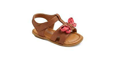 NEW Infant Girls Genuine Kids OshKosh /'Aggy/' Brown /& Pink Sandals