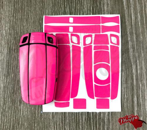 Pink Gloss Key Fob Wrap Cover Sticker Overlay BMW 1 3 5 6 Series Z4 X1 3 X5 X6 M