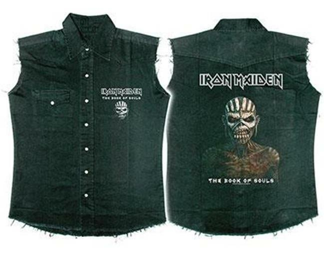 OFFICIAL LICENSED - IRON MAIDEN - THE BOOK OF SOULS SLEEVELESS WORK SHIRT EDDIE