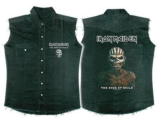 Official Licensed - Iron Maiden - The Book of Souls ärmellos Arbeitshemd Eddie