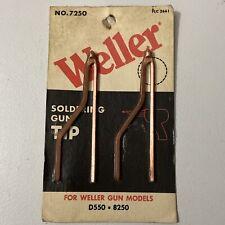 Weller 7250 Soldering Gun Tips Copper Made In Usa