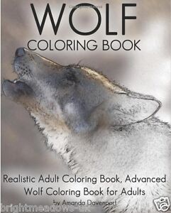 Details About Realistic Wolves Wolf Animal Adult Colouring Book Mystical Fantasy Paws 1 Sided