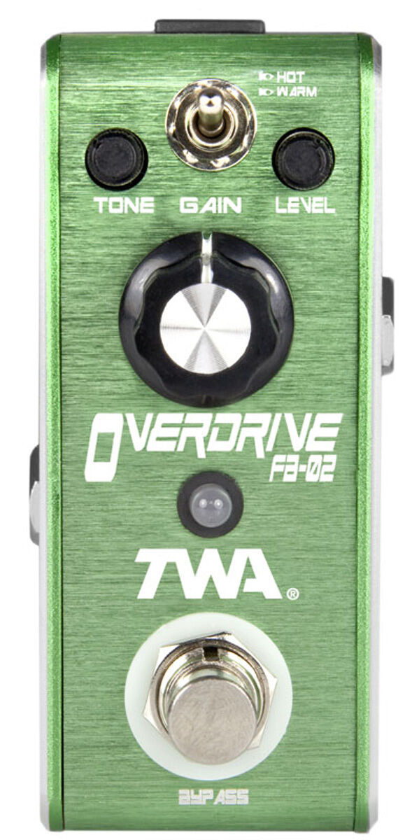 TWA Fly Boys FB-02 Overdrive pedal with C-BAT R 9v battery clip adapter cable