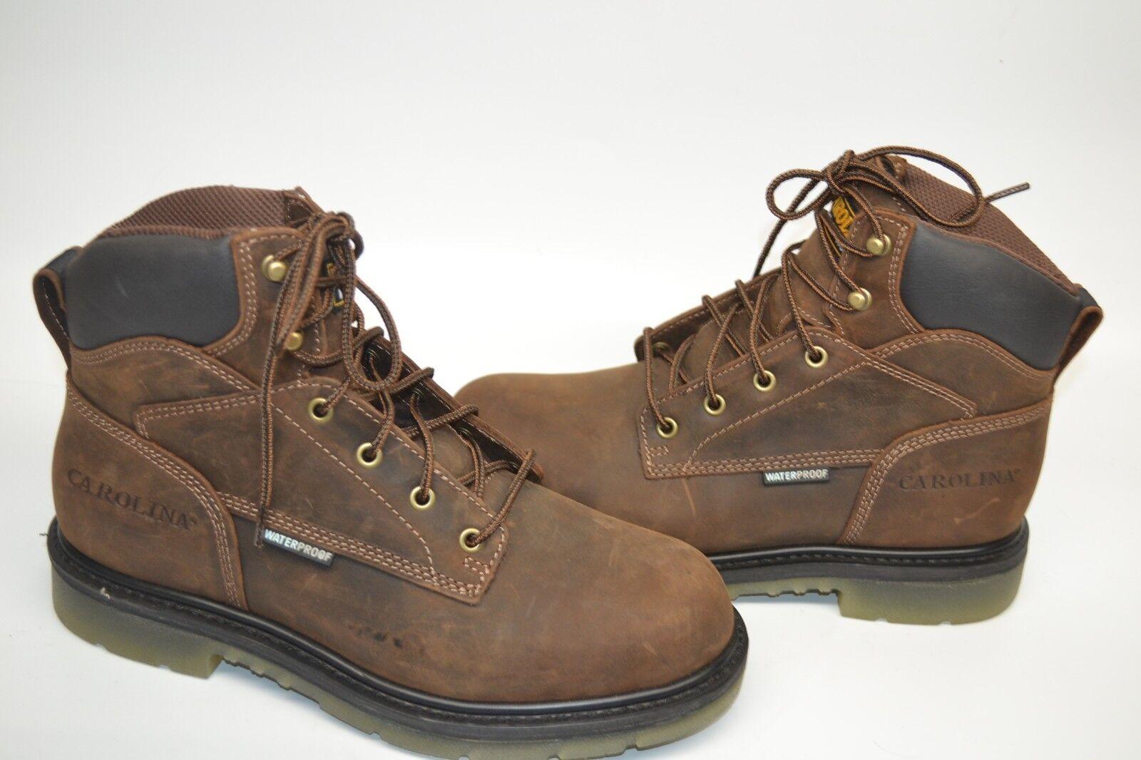 Carolina CA7120 Brown Leather Waterproof 6   SOFT Toe Work Boot 9 D MEMORY FOAM