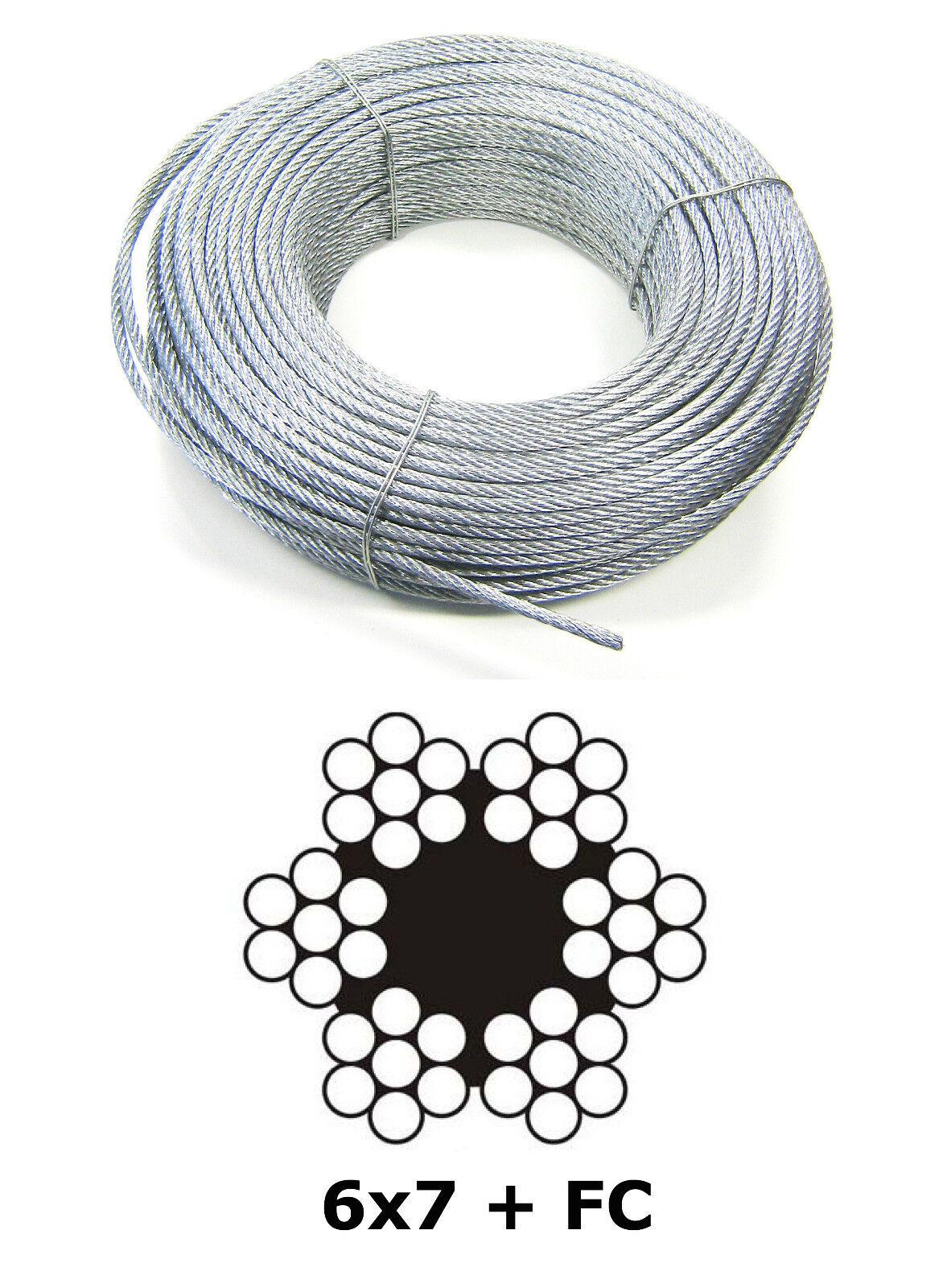 Drahtseil Stahlseil Draht Seile Stahlseile Drahtseile Seil 2-6mm Seil Stahldraht