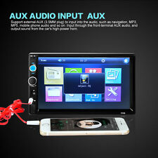 7'' LCD 2 DIN In Dash Bluetooth Car Stereo FM Radio MP3 Player Touch Screen AUX