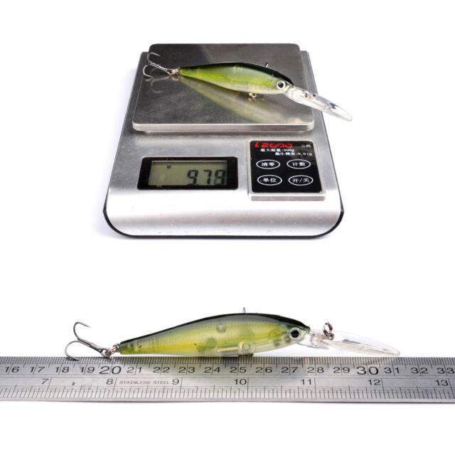 10pcs Minnow Rattles Fishing Lures Baits CrankBait Bass Tackle Hook 14.5cm//15g