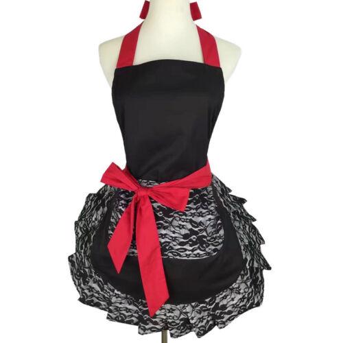 Details about  /Lolita Lace Apron Cooking Baking Chef Wedding Waiter Pocket Workwear Fashion DIY