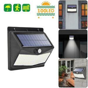 40LED Solar Powered Light PIR Security Motion Sensor Wall Lamp Garden Outdoor UK