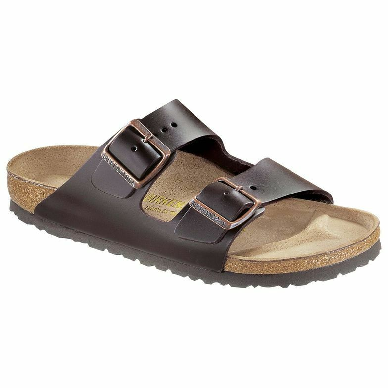 Birkenstock Arizona Cuir Dark Brown Marron Nature Cuir Arizona Mules 51103 étroit Messieurs 4b76d9
