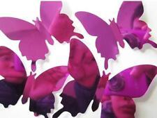 2017 Wall Stickers Decal Butterflies 3D Mirror Bedroom Home Wall Art Home Decor