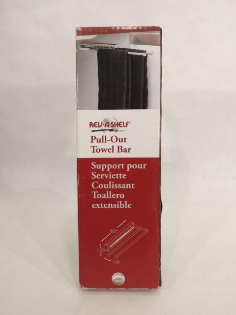 Rev A Shelf Pull Out Towel Bar Chrome 318391 Bathroom Open