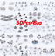 50pcs-Tibetan-Silver-Metal-Charms-Loose-Spacer-Beads-Wholesale-Jewelry-Findings thumbnail 1