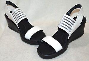c8c41d3859 Skechers Women's Rumblers Sci-Fi White/Black Wedge Sandals - Size 7 ...