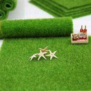 Piece artificial grass fake lawn miniature garden ornament for Artificial grass decoration crafts