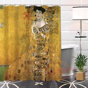 Image Is Loading Shower Curtain Waterproof Unique Klimt Famous Paintings Fabric