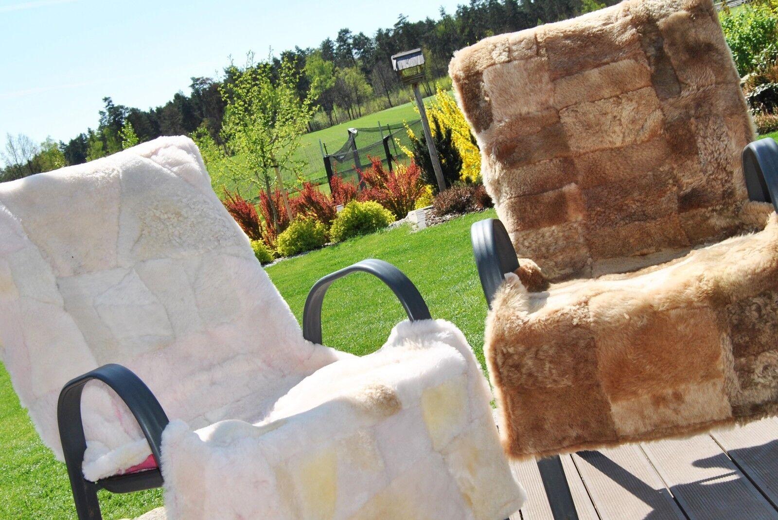 1 x  MERINO Sheepskin Throw Fur Rug Natural Car   Chair Seat Covers Sofa Pad Bed