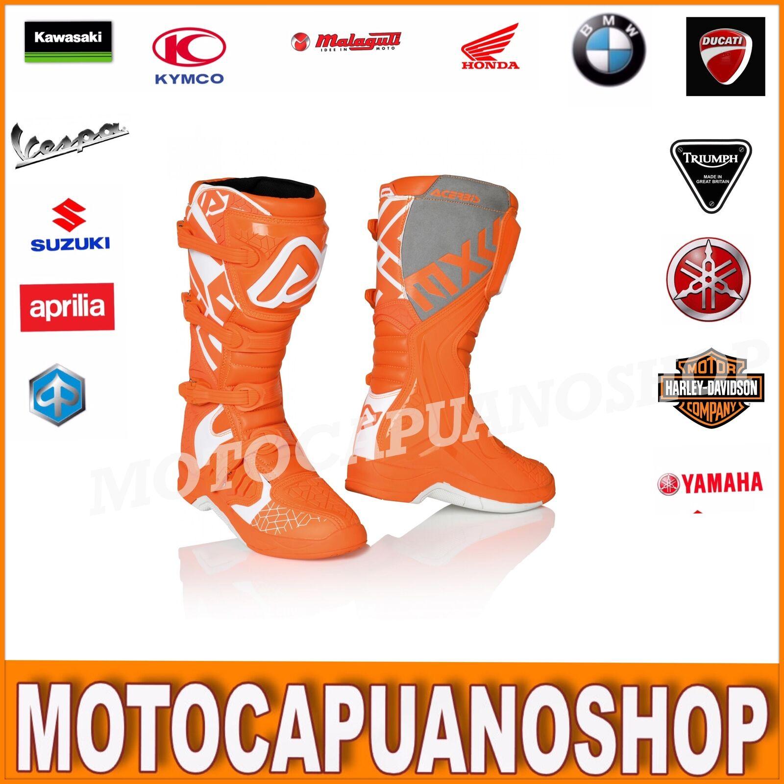 botas TG. 47 Acerbis X-Team botas enduro Cross quad naranja naranja Bianco
