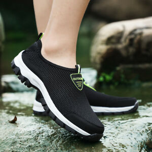 Fashion-Men-039-s-Outdoor-Hiking-Shoes-Mesh-Running-Shoes-Casual-Sneakers-Big-Size