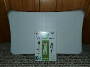 Genuine Nintendo Wii Fit Plus Balance Board with Wii Fit Plus *Tested*