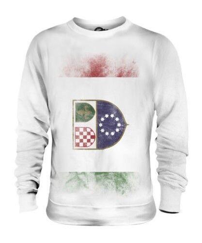 Bosnia-Herzegovina Federación Descolorido Bandera Unisex Suéter Regalo de Fútbol