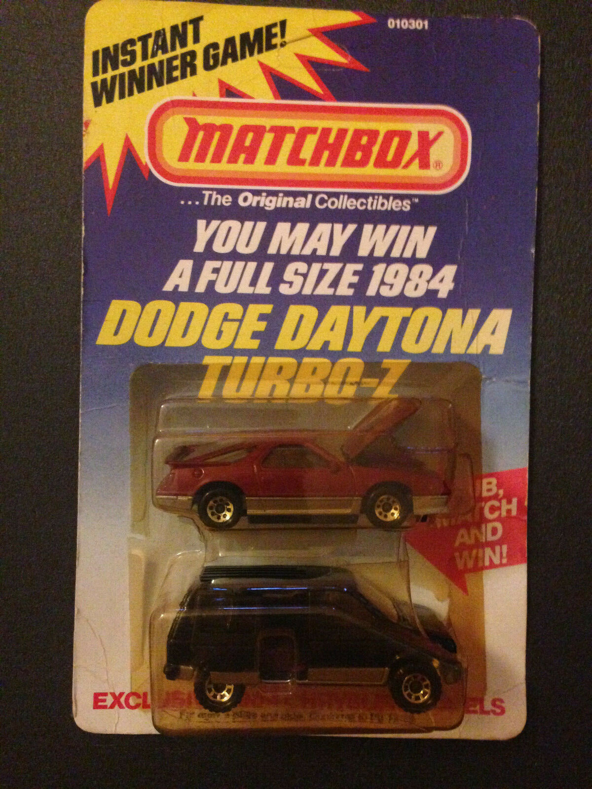 MATCHBOX Eclusive USA 1984 Chrysler Models set DODGE DAYTONA TURBO-Z + Caravane