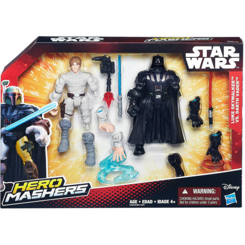 Star Wars Héroe Mashers Battle Pack Luke Skywalker Darth Vader Figuras De Acción